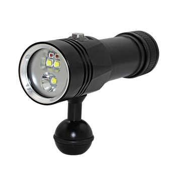 XHP90 Video Fill Light Diving depth 80M Flashlight Underwater XM L2 Blue White Red Photography Video Camera Torch lighting