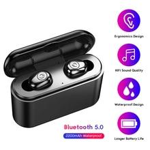 Auriculares TWS X8 inalámbricos por bluetooth 2200, auriculares estéreo impermeables con cargador de batería de 5,0 mAh