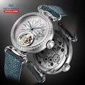 Seagull Роскошные Брендовые Часы из турбийона механические часы женские часы из турбийона сапфировые часы роскошные часы 713.18.8100L