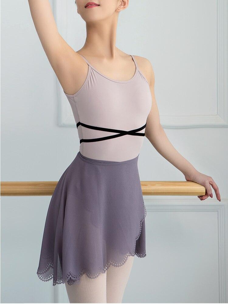 2020 New Ballet Dance Skirt Summer Adult Pure Color Chiffon Practice Costume Tutu Girl's Ballet Dancing Dress
