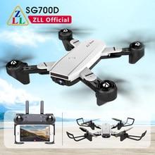 Zll sg700d 4k 1080p zangão rc quadcopter dobrável com câmera dupla fluxo óptico 50x zoom 2.4g wifi fpv dron