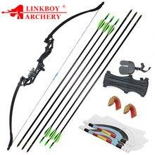 Recurvo arco 20/30/40/50lbs profissional caça arco tiro com arco terno para caça ao ar livre prática setas acessórios 1 conjunto