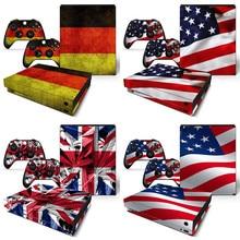 Autocollant de peau de drapeau britannique, étiquette en vinyle pour la Console Microsoft Xbox One X et 2 contrôleurs pour Xbox One X