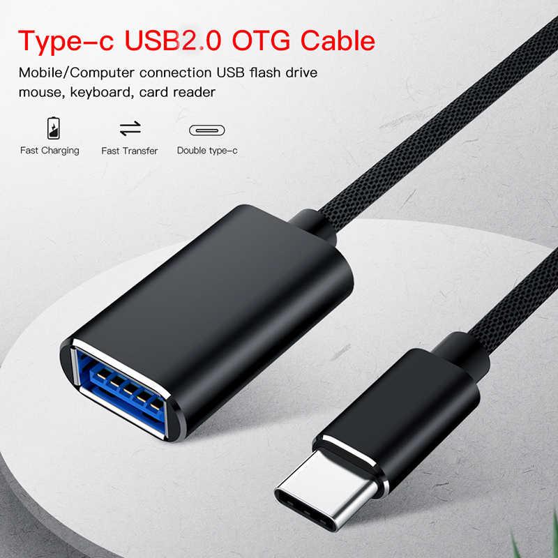 Type C USB 2.0 OTG câble vitesse rapide USB C mâle à USB2.0 femelle convertisseur USB-C synchronisation de données OTG adaptateur câble pour Samsung Xiaomi
