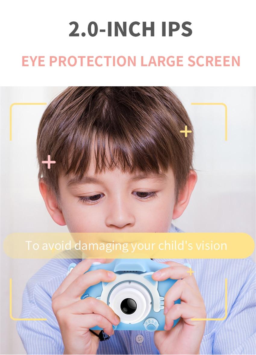 Hdea4cff6161848188f3cf68561c550eaa x8 2.0 inch Screen Kids Camera Mini Digital 12MP Photo Children Camera with 600 mAh Polymer Lithium Battery Toys Gift