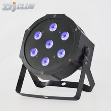 Led Flat Par Rgbw Stage Wash 7X12W Strobe Lights With Dmx512 Control For Professional Stage Dj Equipment