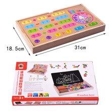 Многофункциональная Магнитная Математика стационарная коробка первый класс молодых студентов счетные арифметические палочки детский сад ранний Чи