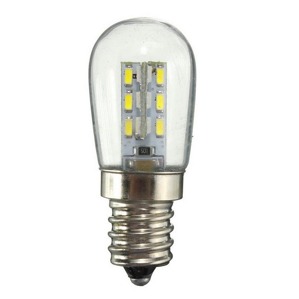 Ac220/ac110vled Bulb E12 E14 Smd 24 Led High Brightness Glass Lampshade Pure Warm White Lamp For Sewing Machine Refrigerator