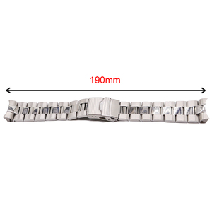 Image 5 - Rolamy 22mm כסף מוצק מעוקל סוף מוצק קישורים החלפת שעון Band רצועת צמיד כפול דחיפה עבור Seiko