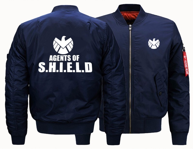 US Size Men Women Coat For Agents Of Shield S.H.I.E.L.D. Flight Jacket Sweatshirts Thicken Casual