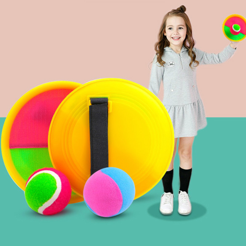 Kids Outdoor Sport Game Props Sucker Sticky Ball Toys For Children Parent Throw And Catch Interactive Play Game Educational Toys