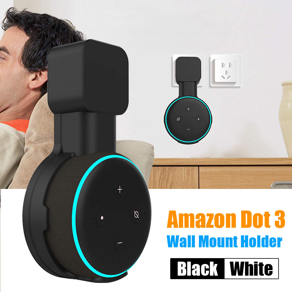 Wall Mount Holder Stand Hanger For Amazon Echo Dot 3rd Generation Indoor Speaker Sound Box Holder Case