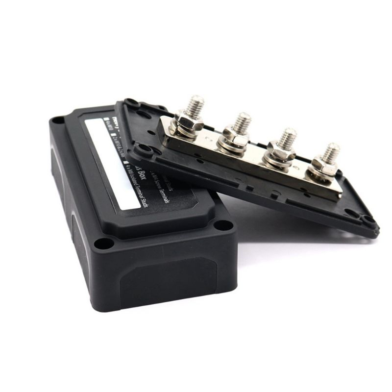 1 Set Vehicle Car Heavy Duty <font><b>4</b></font> Way Bus Bar/Power Distribution Box With Screw On Cover - 300A Car Accessories image