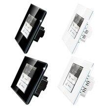 Interruptor de luz inteligente 4 en 1 para cortina, dispositivo multifuncional con Wifi, LCD, interruptor de luz de pared inteligente, consumo de energía, accesorios de interruptor inteligente