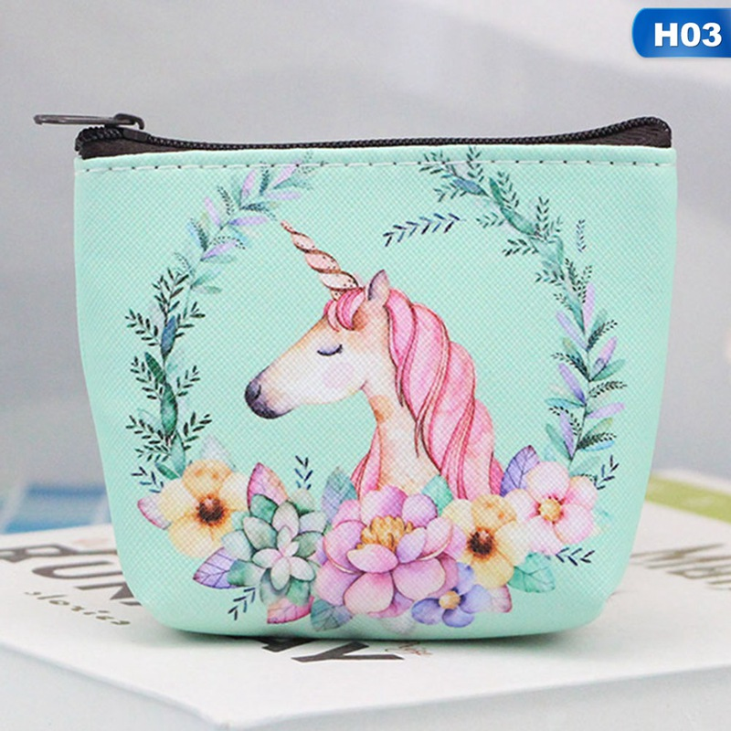 NEW Summer Unicorn Coin purse Gift For Travel Women Zipper Mini Flamingo Wallet Keys Pouch Card Holder Earphone Package Bag