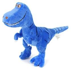 28cm presente de aniversário novidade brinquedo engraçado cama tempo brinquedos animais de pelúcia bonito macio t-rex tyrannosaurus dinossauro figura #10