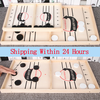 Table Hockey Game Catapult Chess Parent-child Interactive Toy Foosball Winner Games Fast Sling Puck Board Game Toys For Children