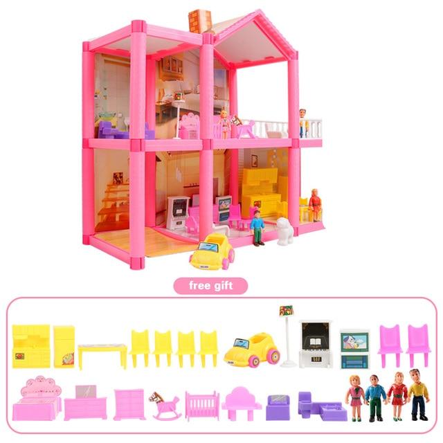 Dzieci ręcznie wykonany domek dla lalek zamek DIY zabawki