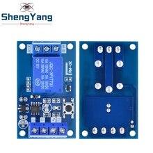 Módulo de relé biestable de botón de enlace único, 5V y 12V, interruptor de arranque y parada de coche modificado, una tecla para Arduino