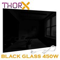 ThorX A450 B Infrared heater panel 450 Watt 60x80 cm black glass carbon crystal technology