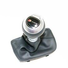 DAZOO 8UD713139 TAH S TRONIC Sport prawdziwej skóry na dźwignia zmiany biegów pokrywa dla V W GOLF 6 J etta Scirocco CC Passat Q3