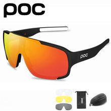 4 lente poc equitação óculos ao ar livre movimento bicicleta óculos uv400 óculos de sol dos homens equitação mtb mountain bike