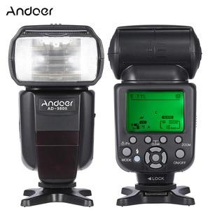 Image 1 - Andoer AD 980II E TTL HSS 1/8000s Master Slave GN58 flaş Speedlite Canon için 5D Mark III/5D mark II/6D/5D DSLR kamera