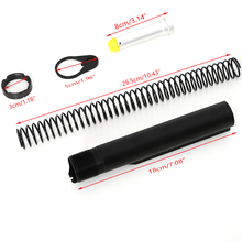 Tactical AR15 Latch Mil spec 6 Position Buffer Extension Tube Rod Assembly /Kit 5 Items Combo Cylinder Rod End Plate Spring Nut