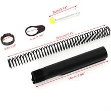Taktische AR15 Latch Mil spec 6 Position Buffer Extension Tube Stange Montage/Kit 5 Artikel Combo Zylinder Stange ende Platte Frühling Mutter