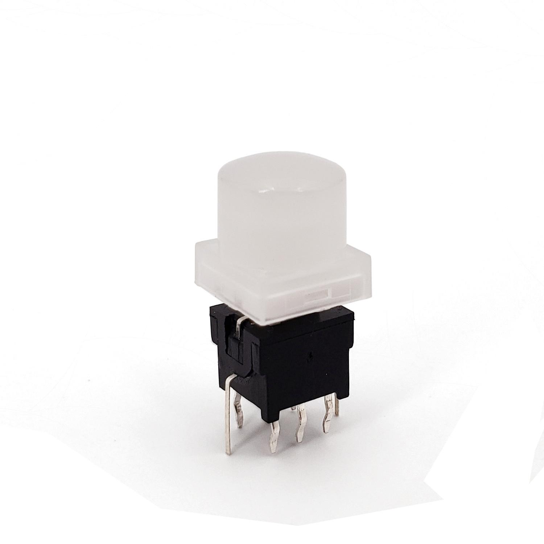 Круглый топ серии TS6-A 10 мм с LED 6 + 2 контактами DPDT фиксатор типа PCB крепление мини кнопочный переключатель