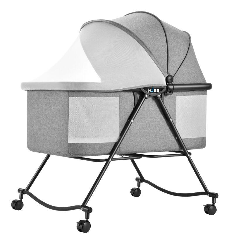 Многофункциональная портативная кровать для ребенка, складная кроватка с колесами, защита от солнца, москитная сетка, дышащая детская спальная Колыбель|Детские кроватки| | АлиЭкспресс