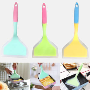 Cooking Utensils Pizza-Shovel Turners Kitchen-Scraper Silicone Spatula Food-Lifters Non-Stick