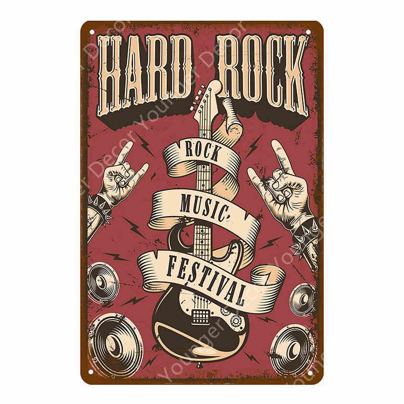 Hard Rock Musica Fstival Segni di Latta Vintage Placca di Metallo Retro Rock Jazz Banda Bacio Wall Art Poster Per Bar Pub club Decor YA008