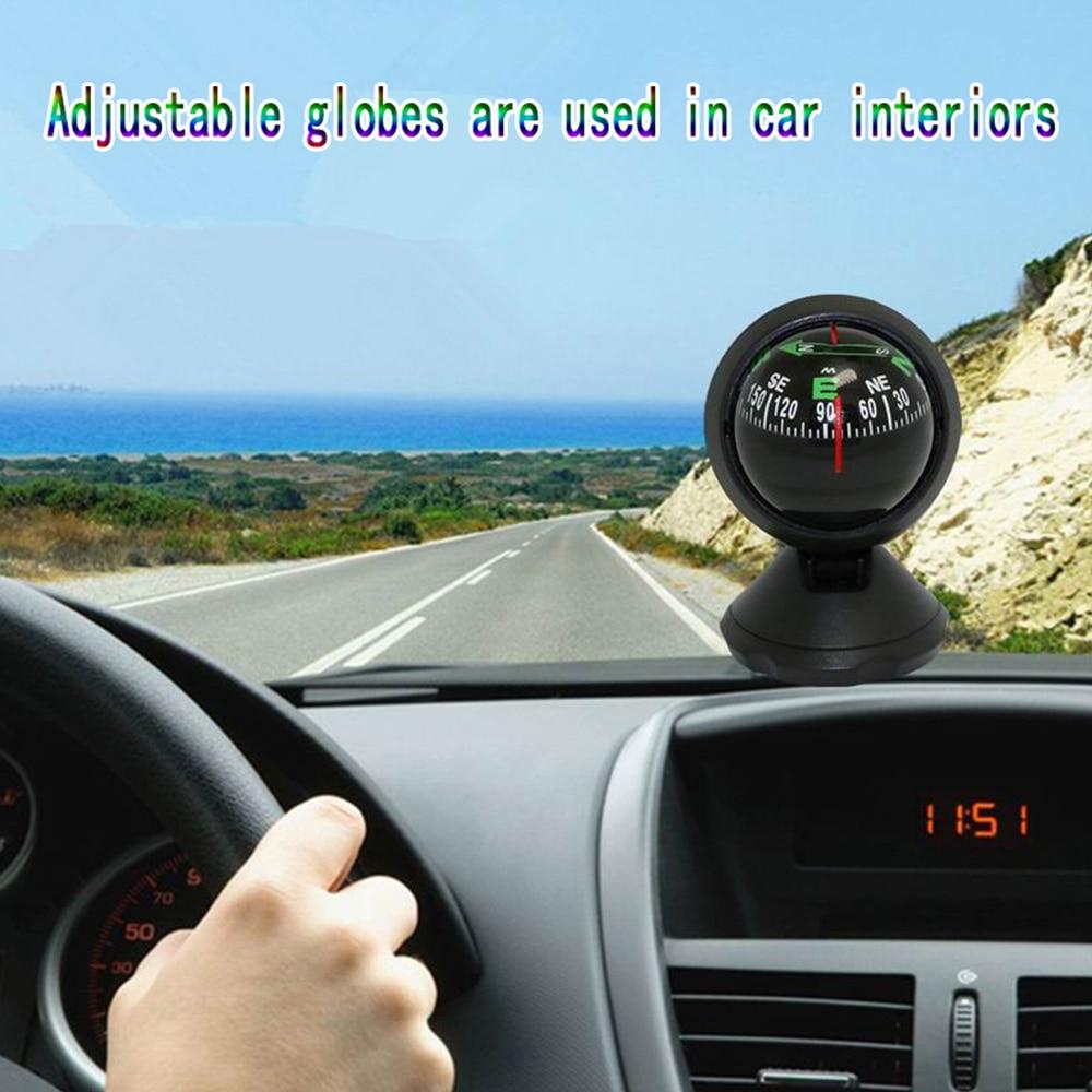 Автомобильный орнамент, глобус, компас, Пластиковый Регулируемый шар ночного видения, автомобильный компас, украшение интерьера для автомо...