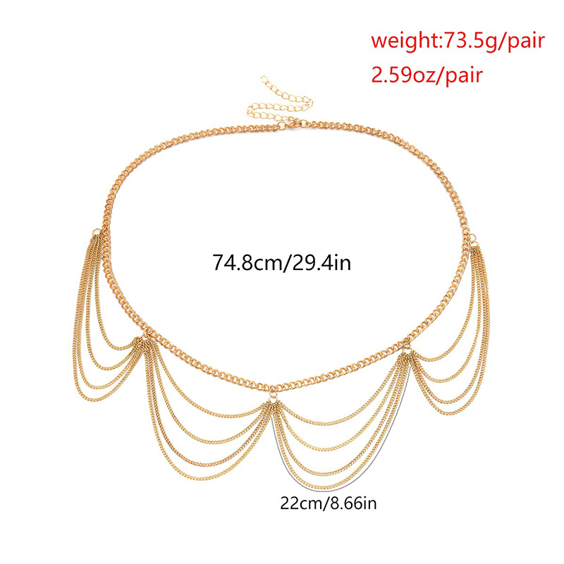 Hdea6d87f3f01434f90ea1e6462188440C - BLA Luxury Women Chain Belts Waistbands All-match Waist Gold Silver Multilayer Long Tassel Chain Belts For Party Jewelry Dress 3