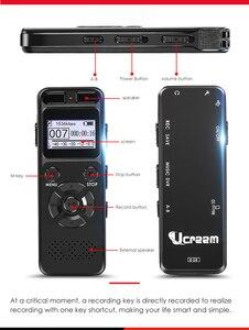 Image 5 - Enregistreur Audio activé par la voix numérique Dictaphone registraire MP3 HIFI stéréo 1536KPS WAV appareil denregistrement gris pour gris daffaires