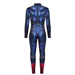 Image 3 - Superman Cosplay Costume Superhero Bodysuits For Adult Super Man Heros Costume Zentai Jumpsuits Back Zipper Halloween Party