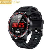 L12 Smartwatch Mannen Vrouwen Ecg + Ppg Bluetooth Call Hartslag Bloeddruk IP68 Waterdicht Vs L11 L13 SG2 Sport smart Horloge(China)