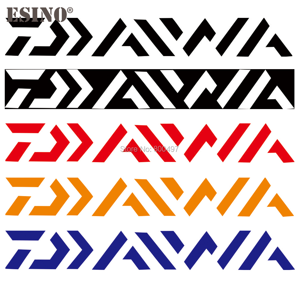 Car Styling Funny Decorative Vinyl Decal Body Stickers PVC Carving Sticker Car Accessory for Daiwa Fishing Style