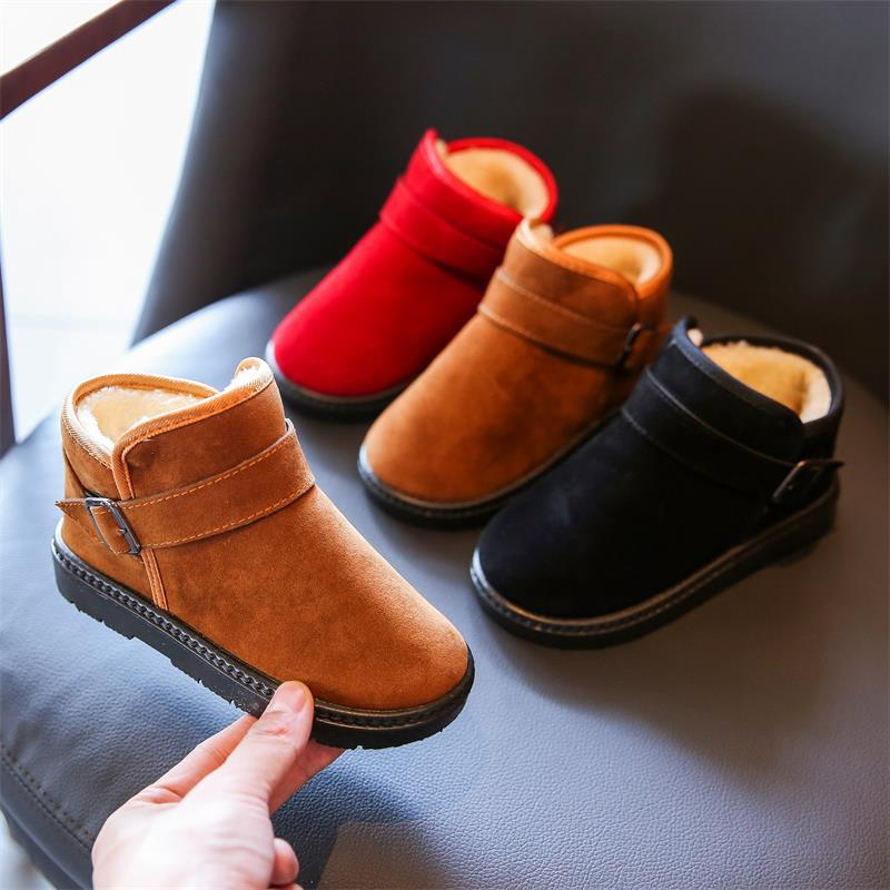New Fashion Cute Cartoon Snow Boots Warm Cotton Thick Shoes Winter Baby Boys Girls Shoes Kids Children Casual Boots Sneakers2019