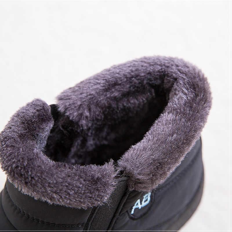 Kadın botları artı boyutu 43 su geçirmez kar botları kış üzerinde kayma ayakkabı kadın sıcak kapitone çizmeler ayak bileği Botas Mujer kış ayakkabı