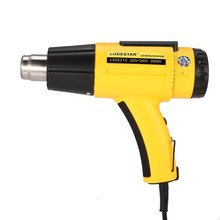 цена на L502310 2000W LCD Digital Electric Hot Air Heat Gun Temperature Fan Adjustable Shrink Wrap Paint Stripper DIY Tool + Nozzle