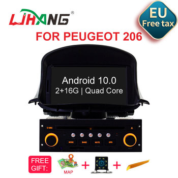 eunavi 2 din universal android 10 car multimedia player auto dvd radio stereo gps navigation audio tef7708 4g wifi dsp rds usb LJHANG 1 Din Android 10 Car DVD Multimedia Player for PEUGEOT 206 206CC GPS Navigation Car Radio Stereo Headunit WIFI Audio Auto
