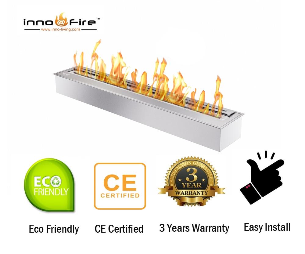 Inno Living Fire  48 Inch Bio Ethanol Burner  Outdoor Fire Pit