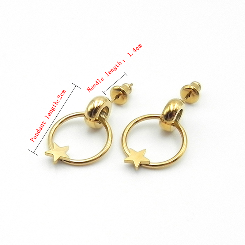 Simple Earrings Golden Five-pointed Star Pendant Earrings Fashion Stylish Party Daily Jewelry Women Gifts Accessories wholesale