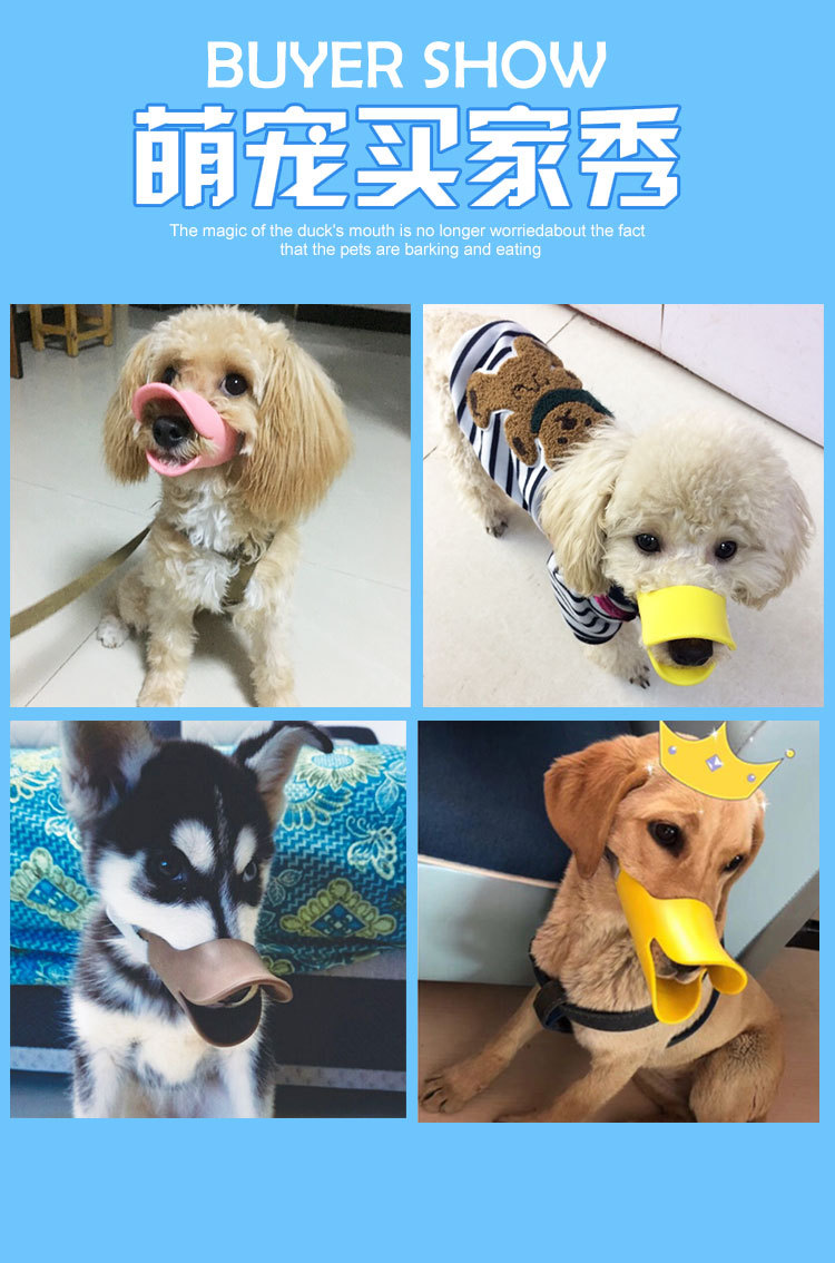 Paper Card Dog Case PET Packaging Dog Face Mask Anti-Bottle Nipple Anti-Bite Mouth Case Plastic Universal Canine Paper Card Supp
