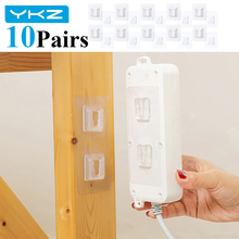 Hanger Double-Sided for Kitchen Bathroom Hooks Wall-Storage Sucker Cable-Organizer Suction-Cup