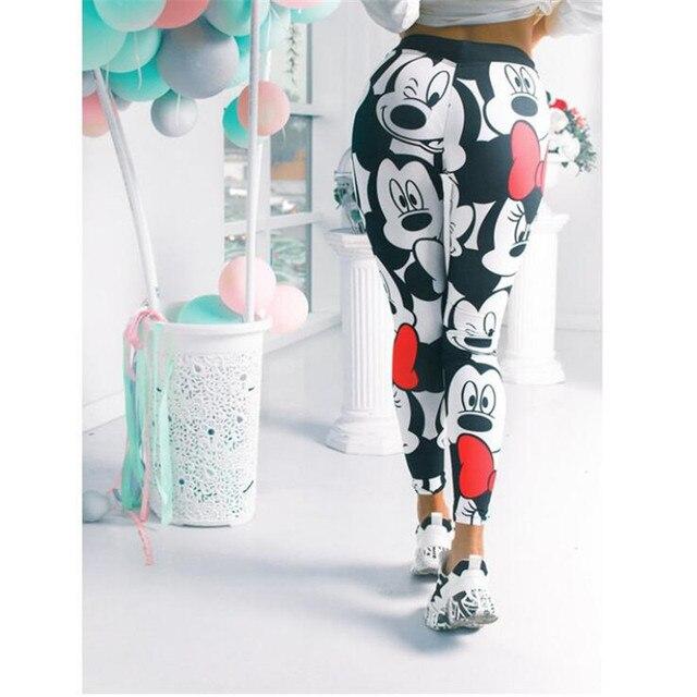 3D Mickey Women Leggings Stretchy Fitness Women Sweatpants Mickey Gym Leggings Female Mickey Pants Women Leggings 2