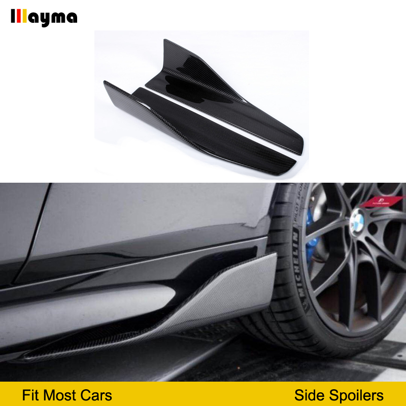 Carbon Fiber Side Skirts For <font><b>BMW</b></font> E60 M5 <font><b>F10</b></font> G30 F22 F23 F87 M2 F32 F33 F36 F82 M4 E90 E92 F30 M3 sport styling side spoiler image