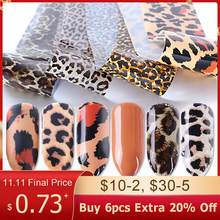 Leopard Print Stickers On Nails Foils Starry Sky Wraps Transfer Decals Polishing Sliders Nails Accessories Wrap Tools BE915 1